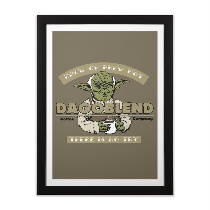 Brew or Brew Not: Dagoblend Home Framed Fine Art Print by Slothfox Apparel by Trenn
