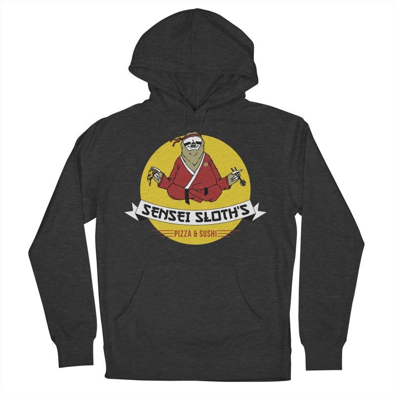 Sensei Sloth's Pizza & Sushi Women's Pullover Hoody by Slothfox Apparel by Trenn