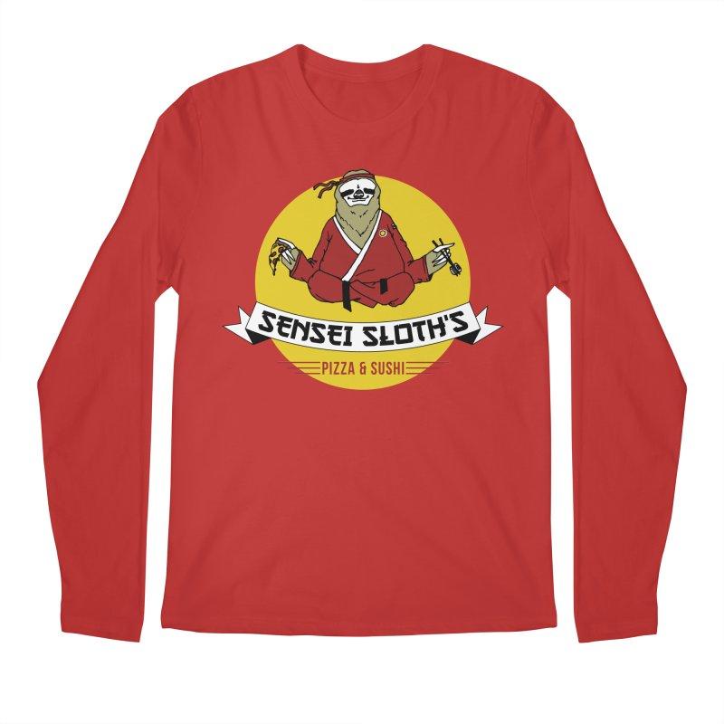 Sensei Sloth's Pizza & Sushi Men's Longsleeve T-Shirt by Slothfox Apparel by Trenn