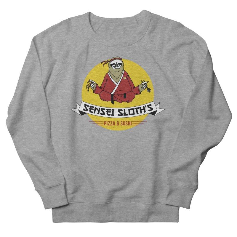 Sensei Sloth's Pizza & Sushi Men's Sweatshirt by Slothfox Apparel by Trenn