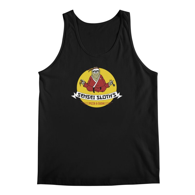 Sensei Sloth's Pizza & Sushi Men's Tank by Slothfox Apparel by Trenn