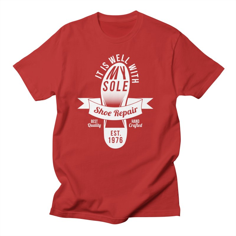 It Is Well With My Sole Men's T-shirt by Slothfox Apparel by Trenn