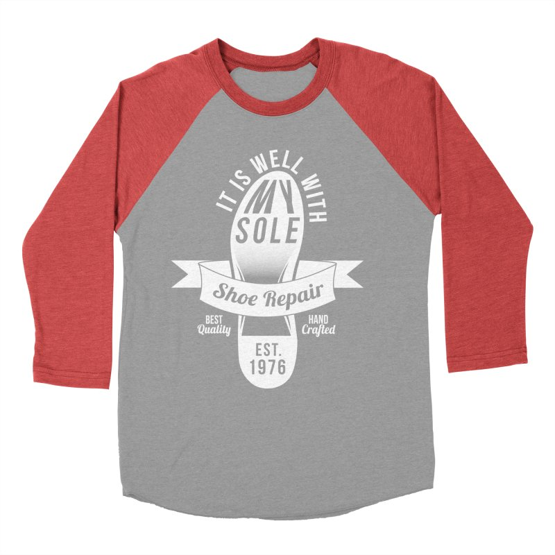 It Is Well With My Sole Women's Baseball Triblend T-Shirt by Slothfox Apparel by Trenn