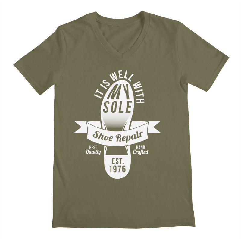 It Is Well With My Sole Men's V-Neck by Slothfox Apparel by Trenn