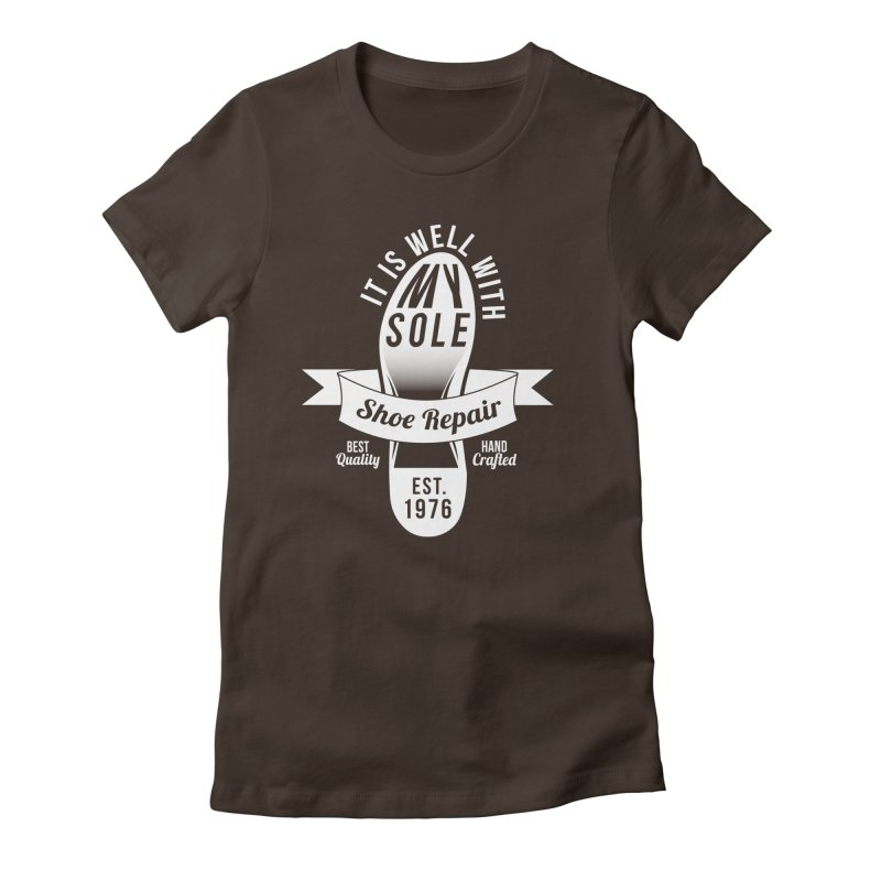 It Is Well With My Sole Women's Fitted T-Shirt by Slothfox Apparel by Trenn