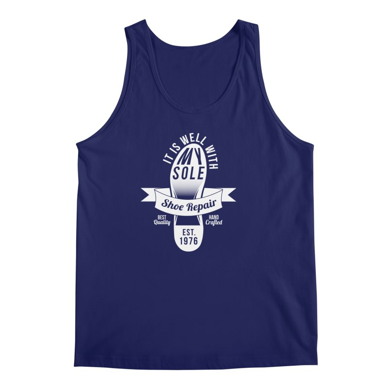 It Is Well With My Sole Men's Tank by Slothfox Apparel by Trenn