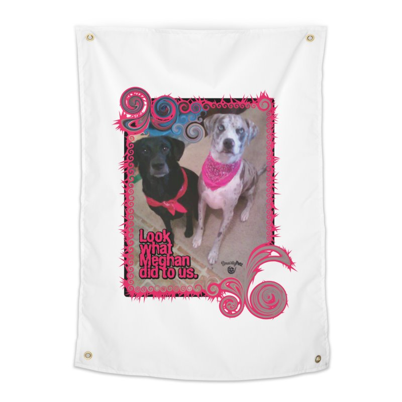 Look what Meghan did to us. Home Tapestry by Smarty Petz's Artist Shop