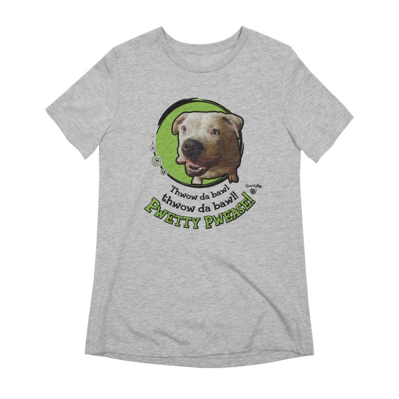 Thwow the Bawl! Women's Extra Soft T-Shirt by Smarty Petz's Artist Shop