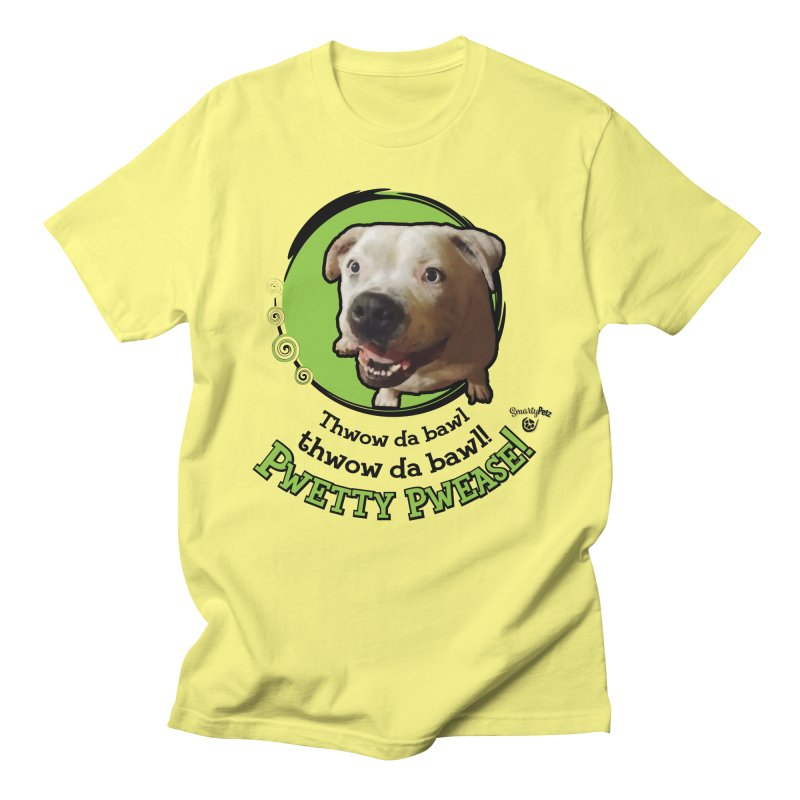 Thwow the Bawl! Men's T-Shirt by Smarty Petz's Artist Shop