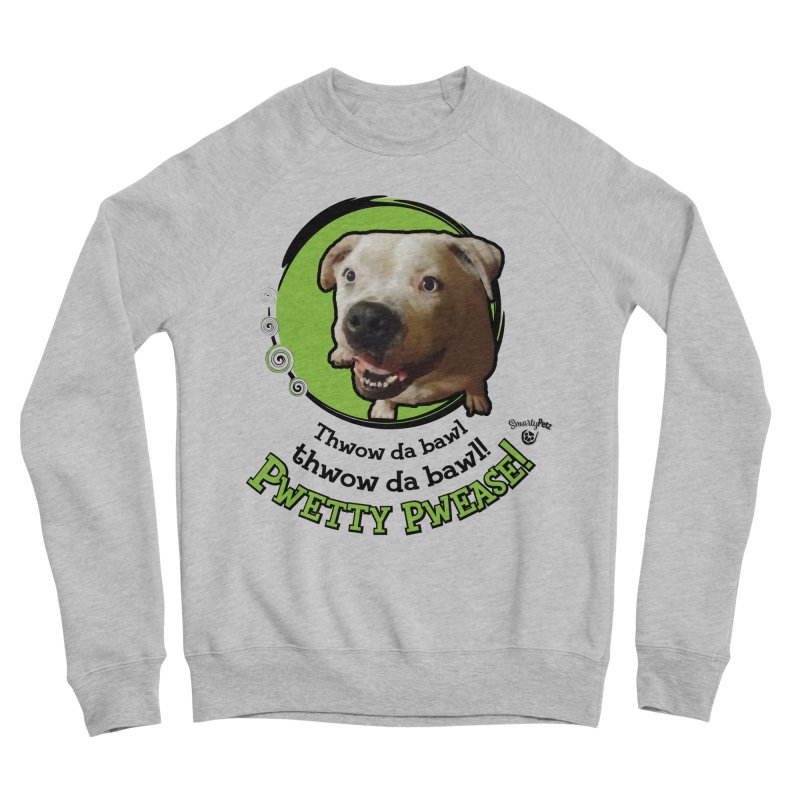 Thwow the Bawl! Men's Sponge Fleece Sweatshirt by Smarty Petz's Artist Shop