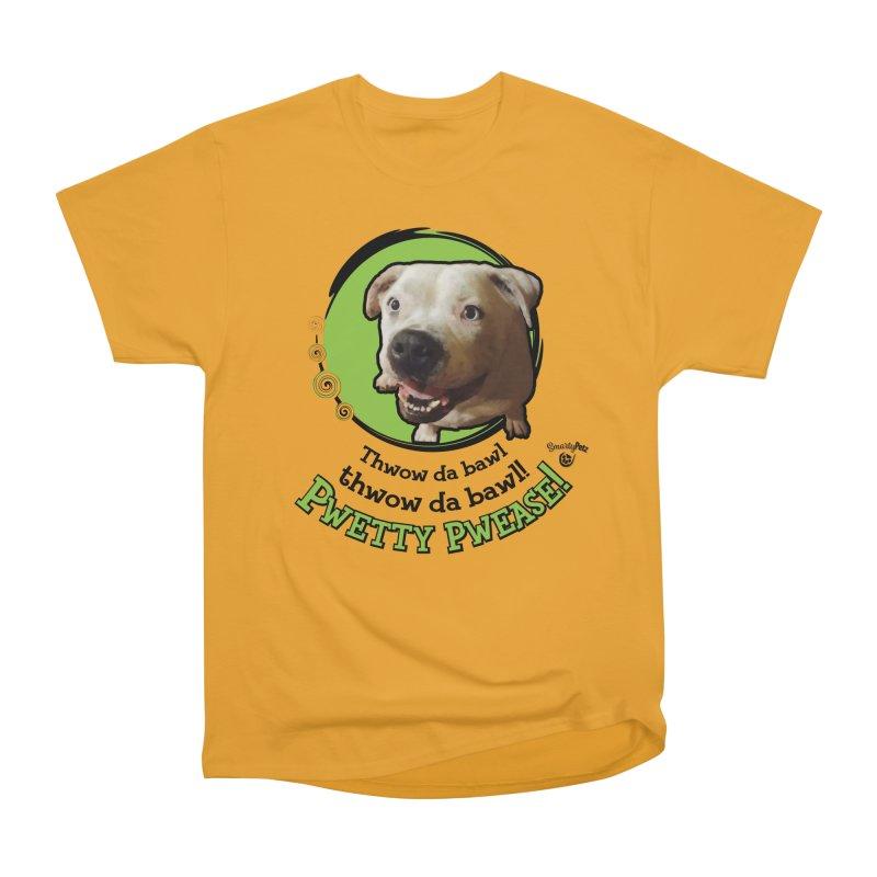 Thwow the Bawl! Women's Heavyweight Unisex T-Shirt by Smarty Petz's Artist Shop