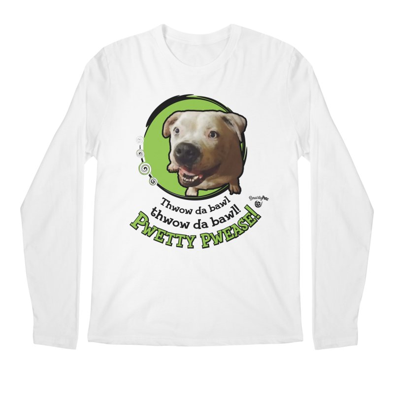 Thwow the Bawl! Men's Regular Longsleeve T-Shirt by Smarty Petz's Artist Shop