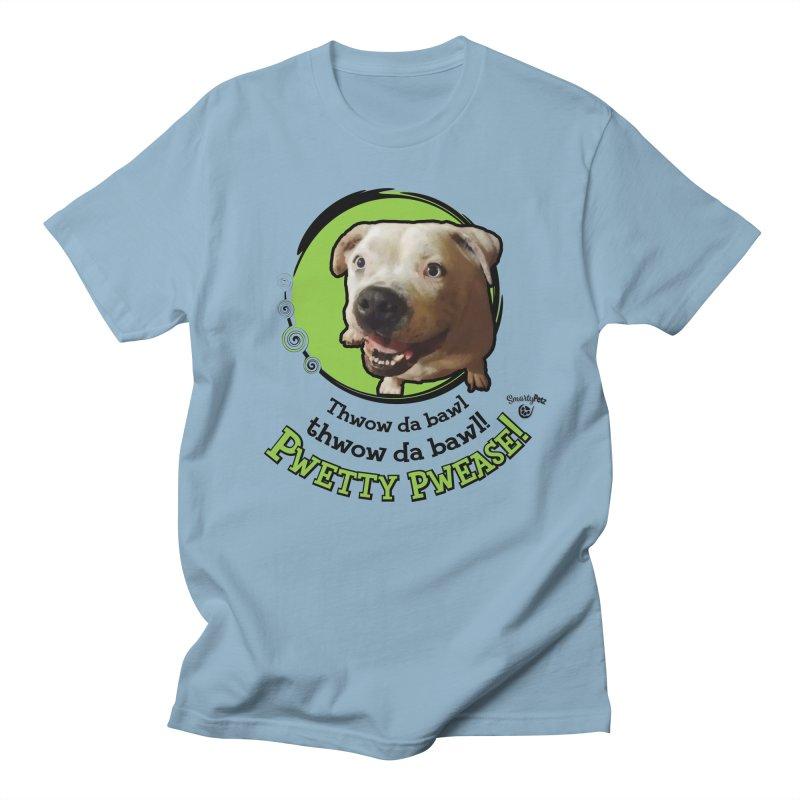 Thwow the Bawl! Men's Regular T-Shirt by Smarty Petz's Artist Shop
