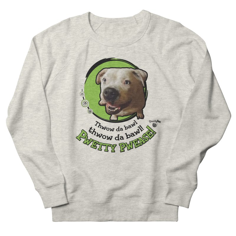 Thwow the Bawl! Men's French Terry Sweatshirt by Smarty Petz's Artist Shop