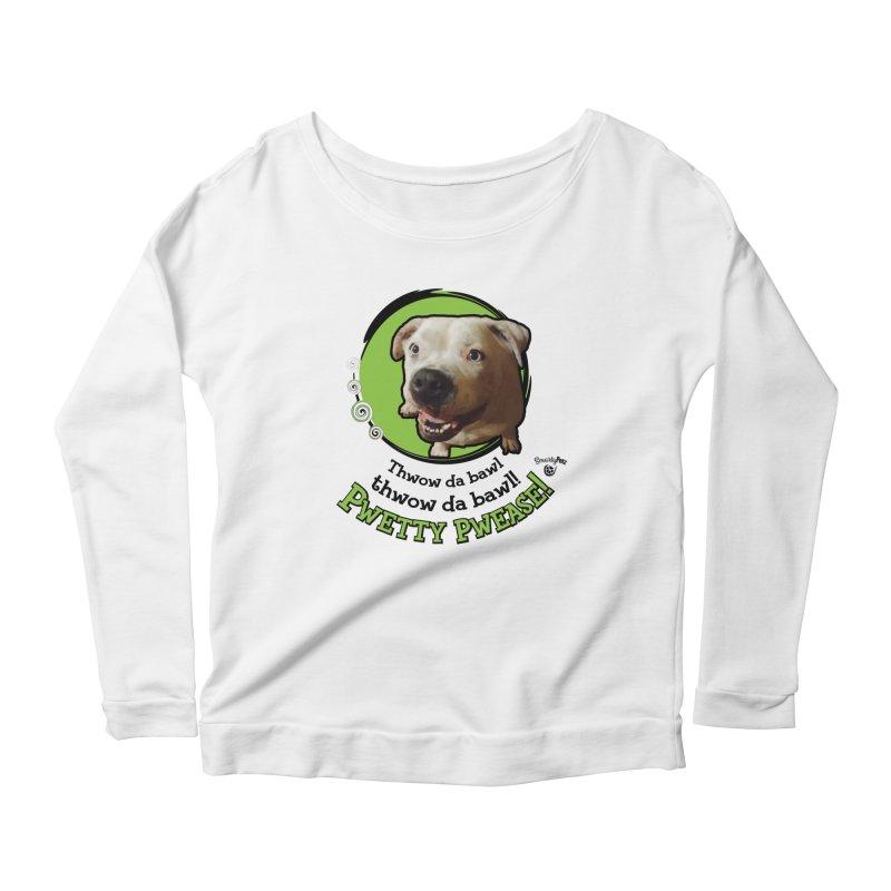 Thwow the Bawl! Women's Scoop Neck Longsleeve T-Shirt by Smarty Petz's Artist Shop
