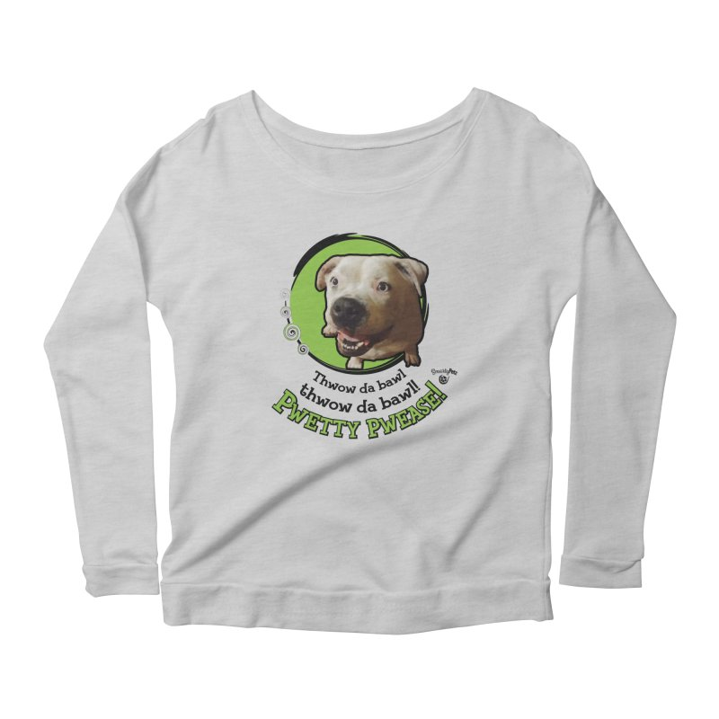 Thwow the Bawl! Women's Scoop Neck Longsleeve T-Shirt by Smarty Petz's Artist Shop