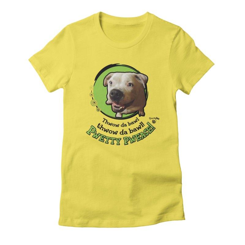 Thwow the Bawl! Women's T-Shirt by Smarty Petz's Artist Shop