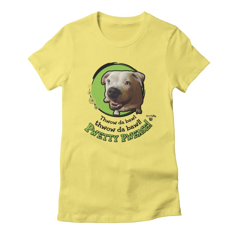 Thwow the Bawl! Women's Fitted T-Shirt by Smarty Petz's Artist Shop