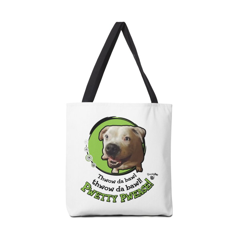 Thwow the Bawl! Accessories Tote Bag Bag by Smarty Petz's Artist Shop