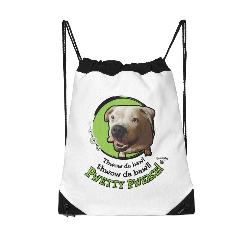 Thwow the Bawl! Accessories Drawstring Bag Bag by Smarty Petz's Artist Shop