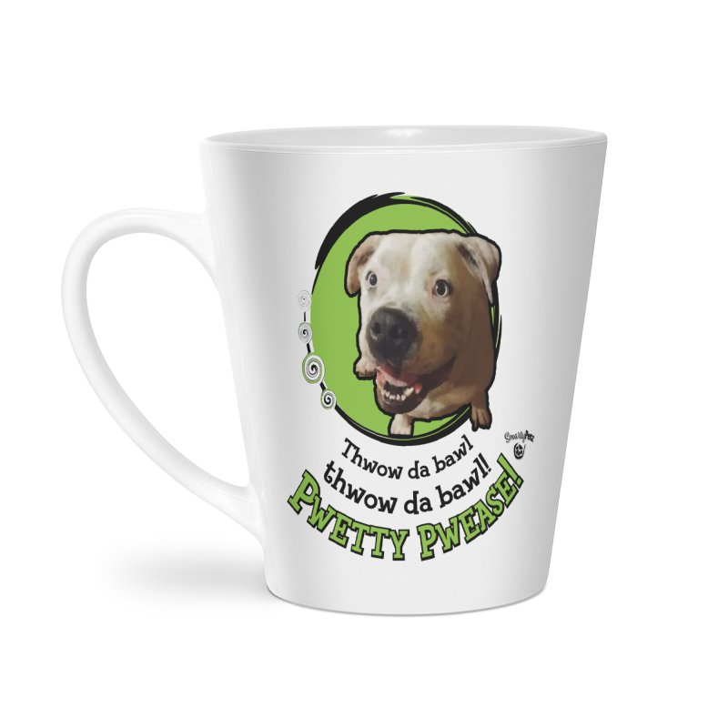 Thwow the Bawl! Accessories Latte Mug by Smarty Petz's Artist Shop