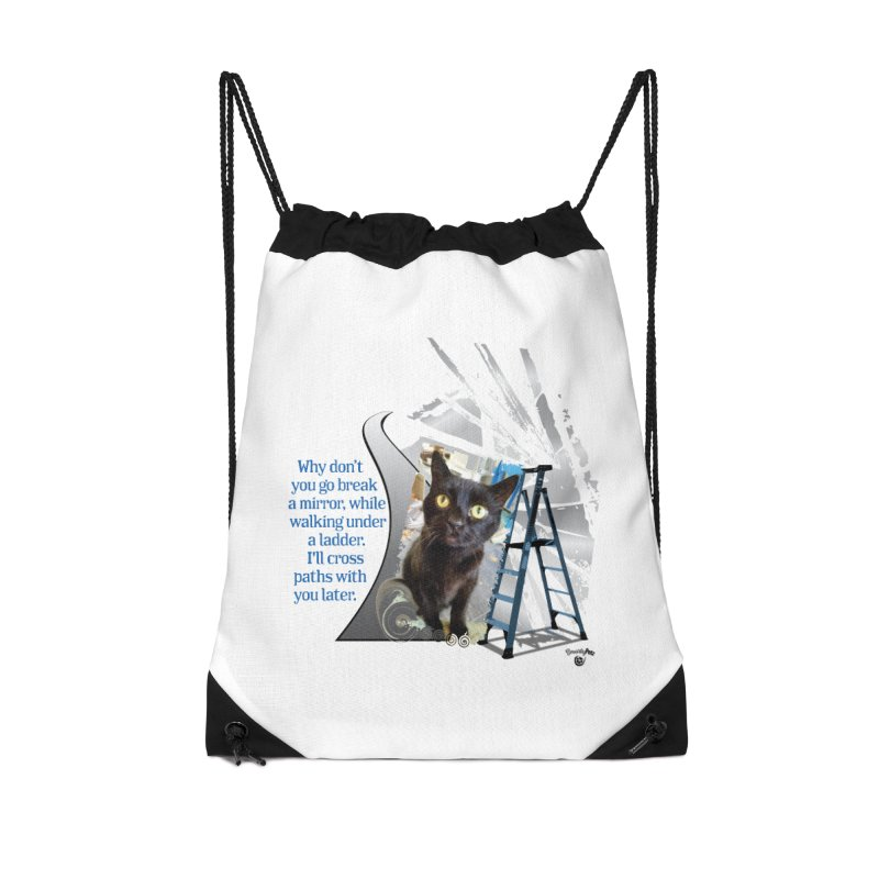 Break a mirror Accessories Drawstring Bag Bag by Smarty Petz's Artist Shop