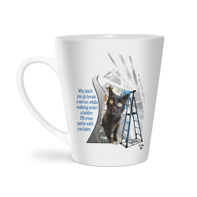 Break a mirror Accessories Latte Mug by Smarty Petz's Artist Shop