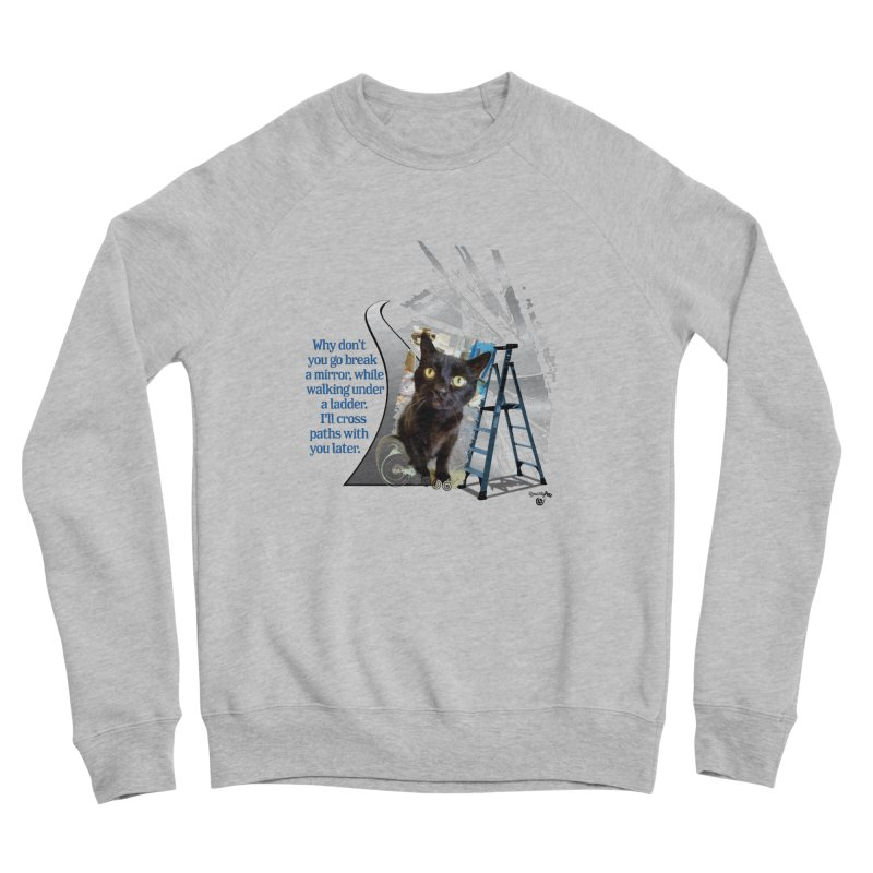 Break a mirror Men's Sponge Fleece Sweatshirt by Smarty Petz's Artist Shop