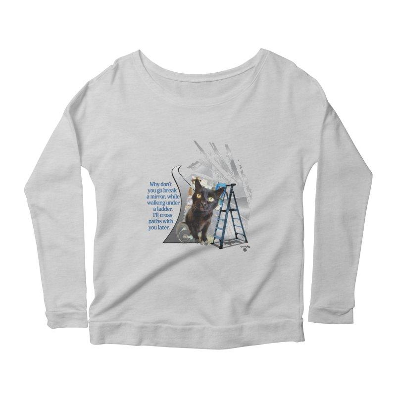 Break a mirror Women's Scoop Neck Longsleeve T-Shirt by Smarty Petz's Artist Shop