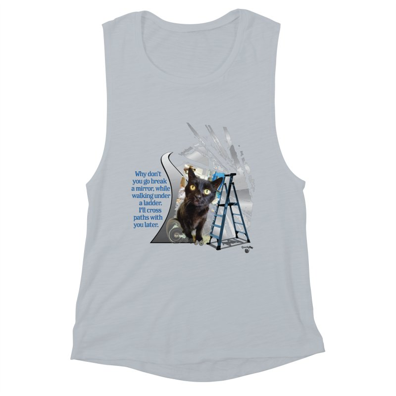 Break a mirror Women's Muscle Tank by Smarty Petz's Artist Shop