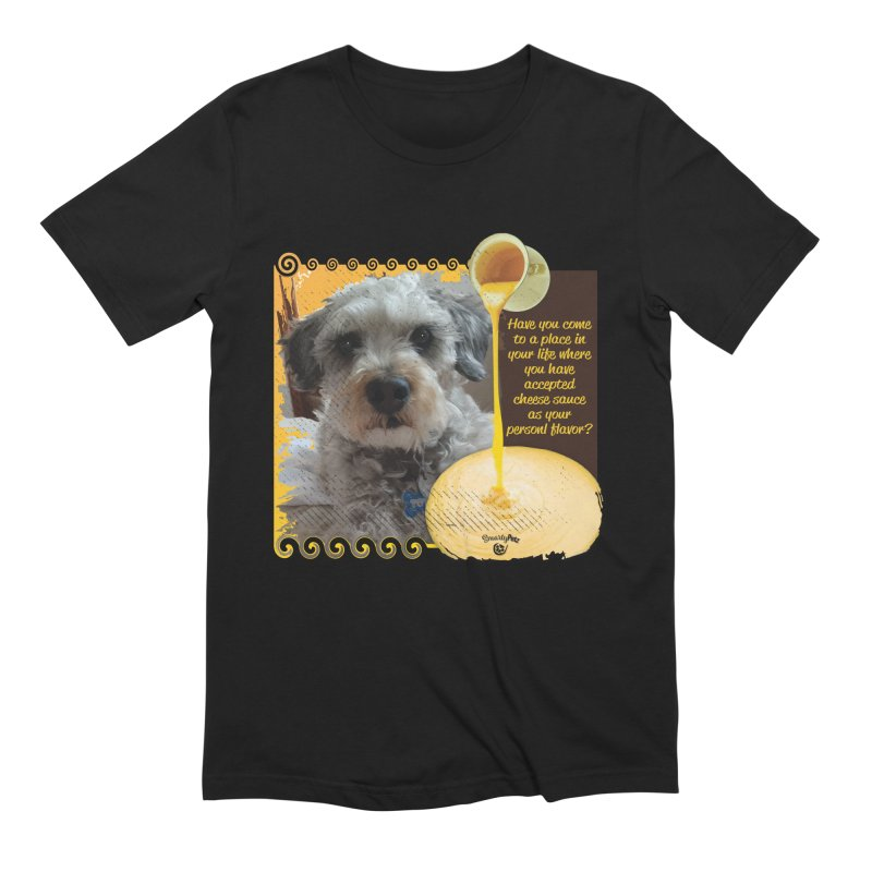 Cheese Sauce Men's Extra Soft T-Shirt by Smarty Petz's Artist Shop