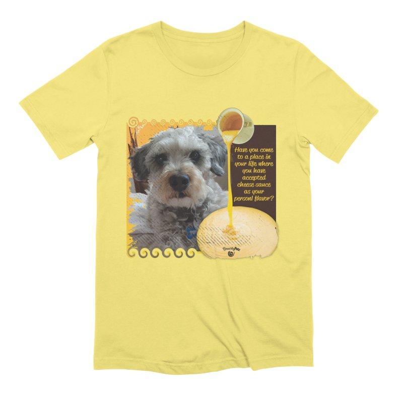 Cheese Sauce Men's Extra Soft T-Shirt by Smarty Petz's Artist Shop