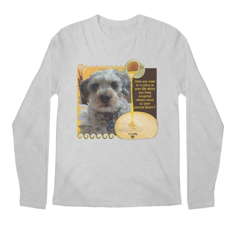 Cheese Sauce Men's Regular Longsleeve T-Shirt by Smarty Petz's Artist Shop
