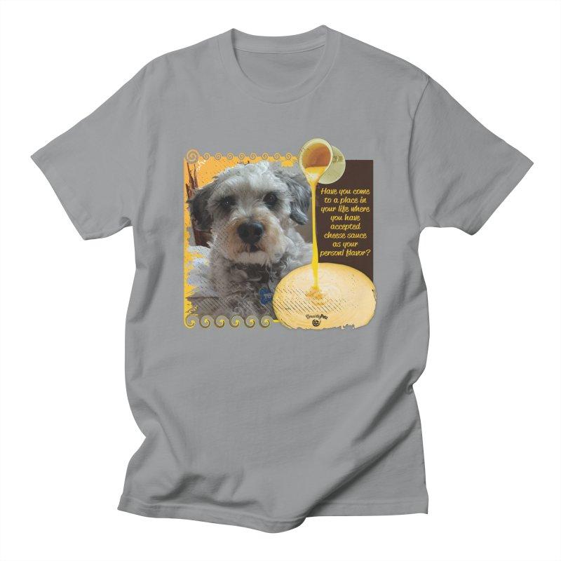 Cheese Sauce Men's Regular T-Shirt by Smarty Petz's Artist Shop