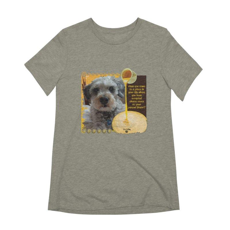 Cheese Sauce Women's Extra Soft T-Shirt by Smarty Petz's Artist Shop