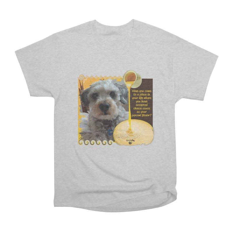 Cheese Sauce Men's Heavyweight T-Shirt by Smarty Petz's Artist Shop