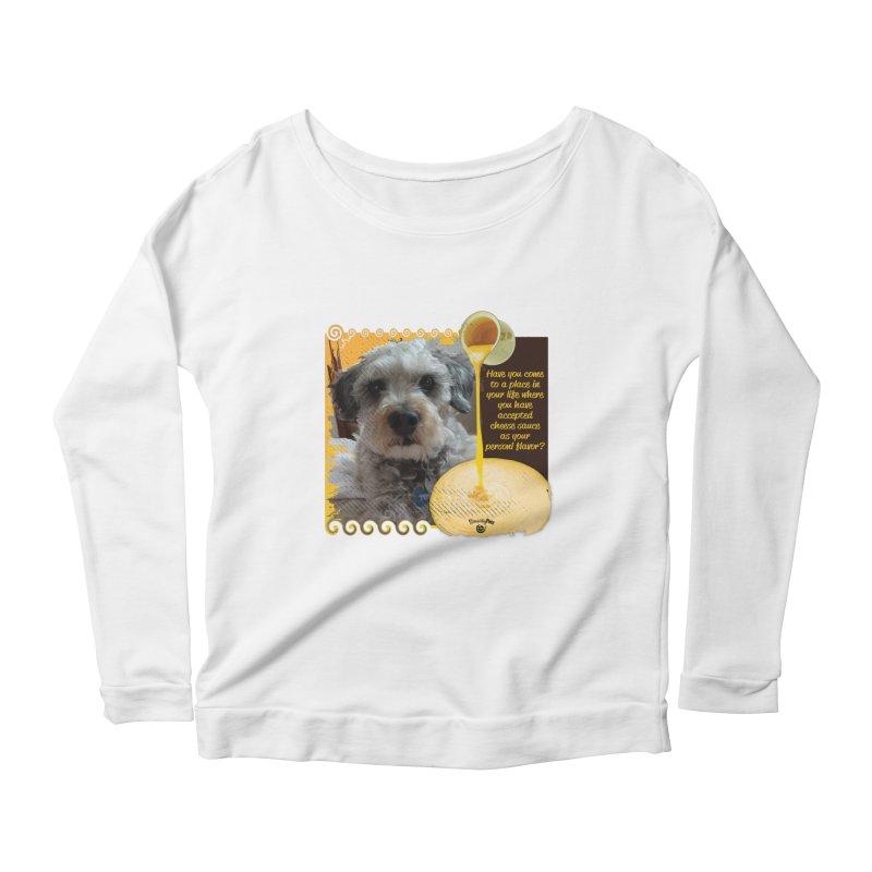 Cheese Sauce Women's Scoop Neck Longsleeve T-Shirt by Smarty Petz's Artist Shop