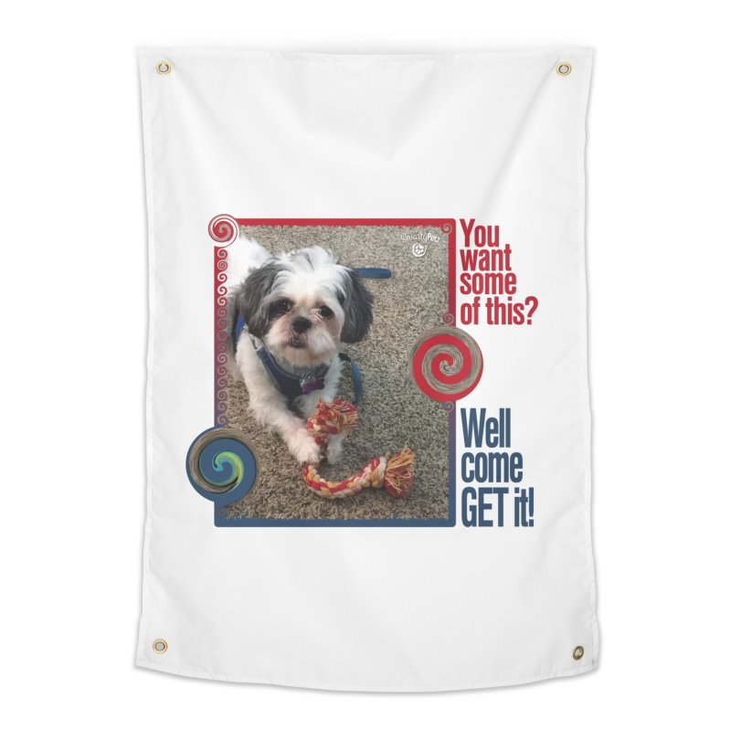 Come get it! Home Tapestry by Smarty Petz's Artist Shop