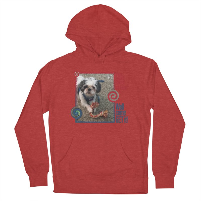 Come get it! Women's French Terry Pullover Hoody by Smarty Petz's Artist Shop