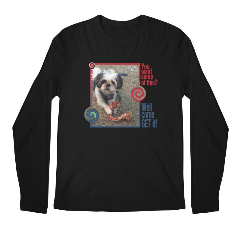 Come get it! Men's Regular Longsleeve T-Shirt by Smarty Petz's Artist Shop