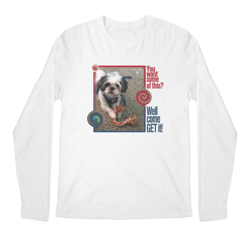 Come get it! Men's Regular Longsleeve T-Shirt by Smarty Petz's Artist Shop
