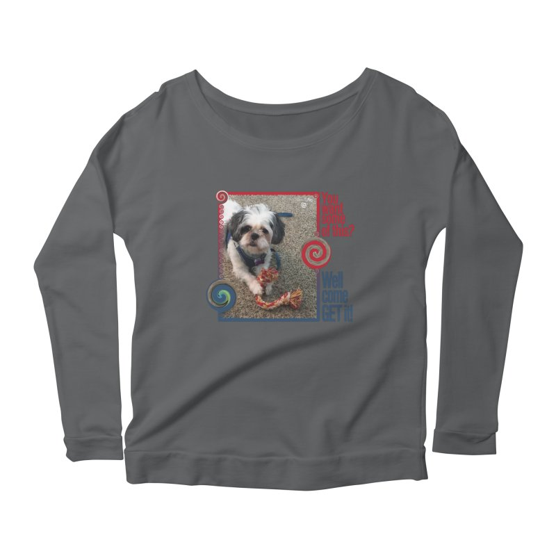 Come get it! Women's Scoop Neck Longsleeve T-Shirt by Smarty Petz's Artist Shop