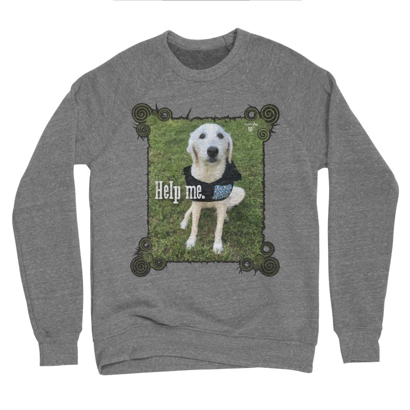 Help me. Men's Sponge Fleece Sweatshirt by Smarty Petz's Artist Shop