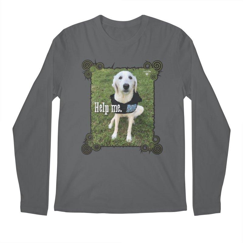 Help me. Men's Regular Longsleeve T-Shirt by Smarty Petz's Artist Shop