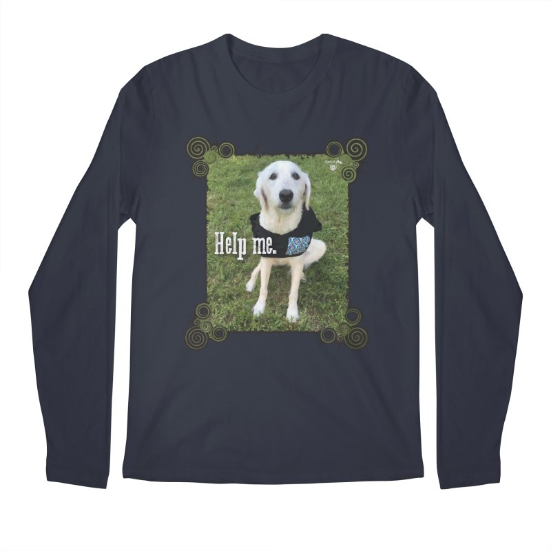 Help me. Men's Regular Longsleeve T-Shirt by Smarty Petz's Artist Shop