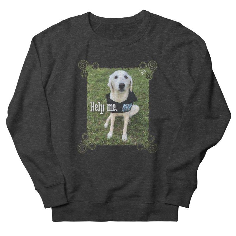 Help me. Men's French Terry Sweatshirt by Smarty Petz's Artist Shop