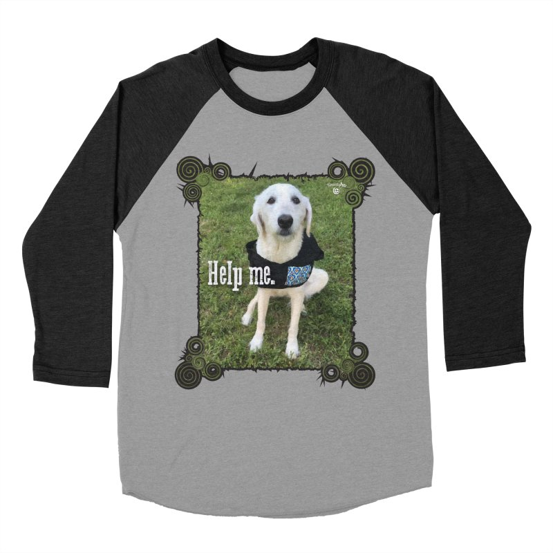 Help me. Men's Baseball Triblend Longsleeve T-Shirt by Smarty Petz's Artist Shop