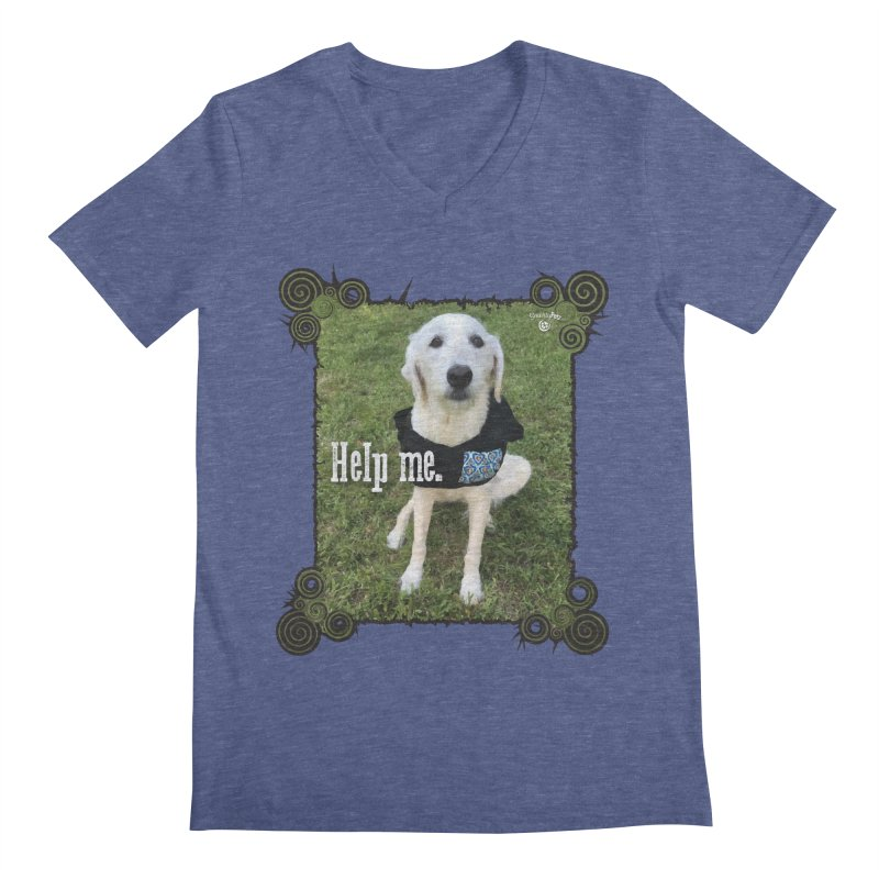 Help me. Men's Regular V-Neck by Smarty Petz's Artist Shop