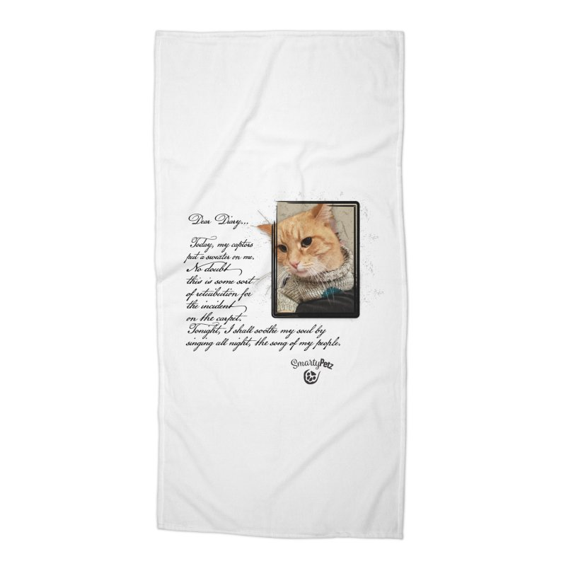 Dear Diary... Accessories Beach Towel by Smarty Petz's Artist Shop