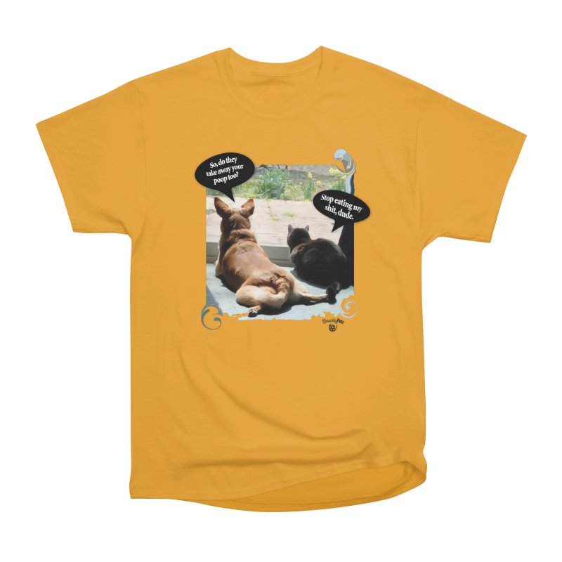 Stop Eating my Shit Men's T-Shirt by Smarty Petz's Artist Shop